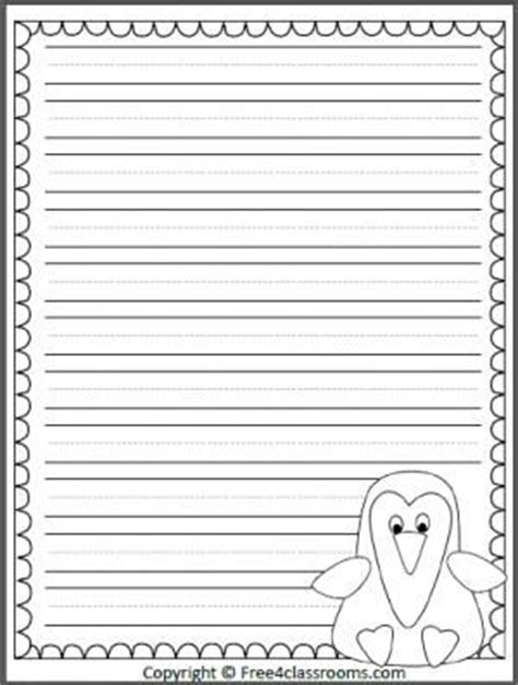 penguin writing paper writing penguins and templates on