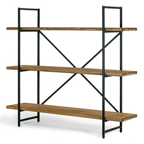 ailis brown pine wood metal frame 56 inch etagere three