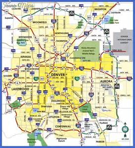 denver map tourist attractions map travel