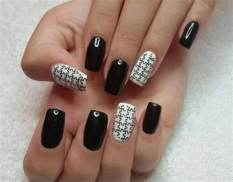 Black And White Gel Nail 43 gel nail designs ideas design trends premium psd