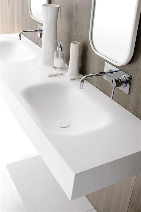 lavabo in corian moode washbasin countertop by rexadesign corian
