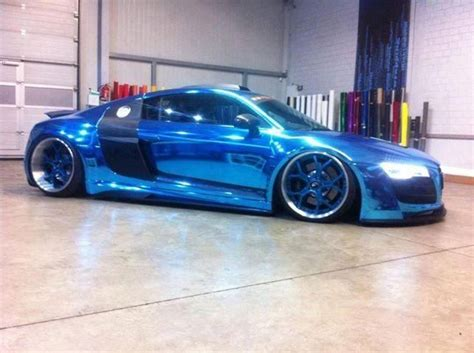 audi r8 chrome blue blue chrome audi r8 my favourite cars pinterest