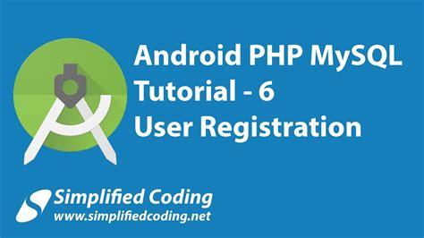 wordpress tutorial user registration 6 android php mysql tutorial user registration pay