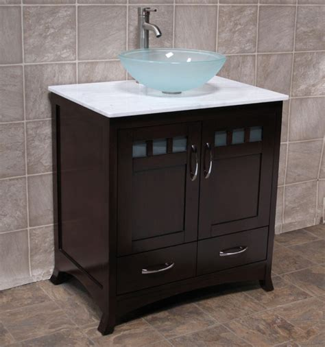 30 Bathroom Sink Cabinet 30 Quot Bathroom Vanity Cabinet Top Vessel Sink Tr5 Ebay