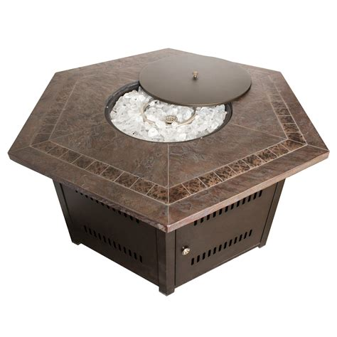 hayneedle pit table az patio hiland 38 in hexagon pit table pits