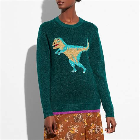 Coach Turnlock Cardigan by Coach Sparkly Rexy Sweater