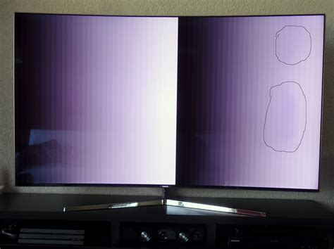 Tv Samsung Ks9500 solucionado mancha traslucida lila en tv samsung ks9500