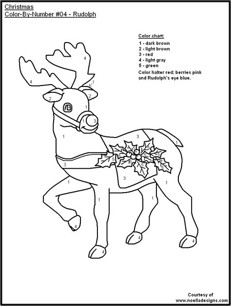 color by numbers holiday coloring pages coloring pages by number printables 2 christmas color by