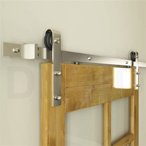 closet sliding door hardware diyhd 8ft brushed nickel sliding barn door hardware interior steel barn wood ebay