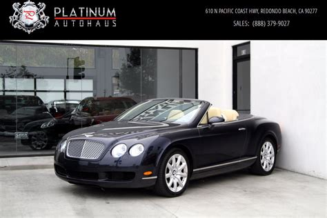 2007 bentley gtc 2007 bentley continental gtc 1 owner stock 5870