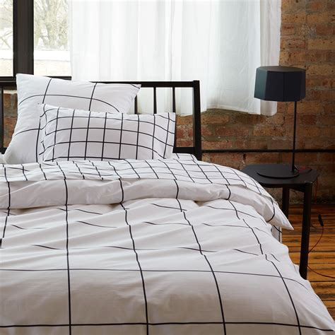 Grid Bed Sheets by Grid Black Sheets Unison