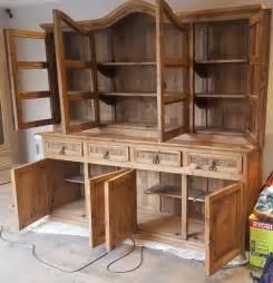 large solid pine sideboard dresser display cabinet unit