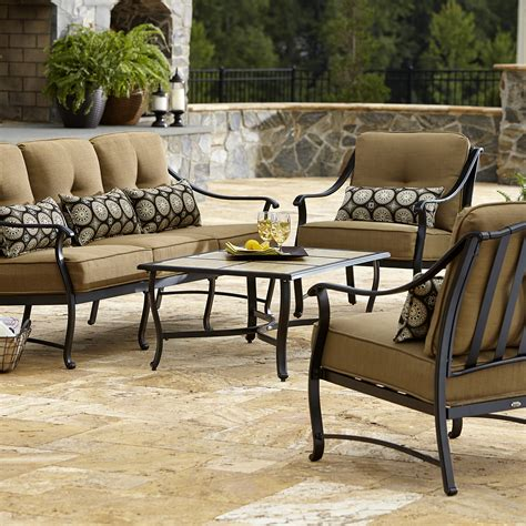 La Z Boy Outdoor Landon 4 Piece Seating Set Limited Backyard Collections Patio Furniture