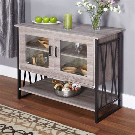 Dining Room Buffet Glass Dining Cabinet Door Storage And Storage Chest On