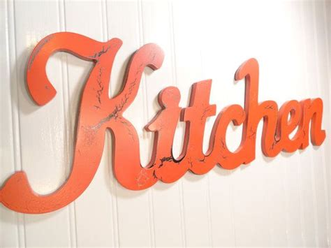 words for the wall home decor burnt orange kitchen decor kitchen word wall sign
