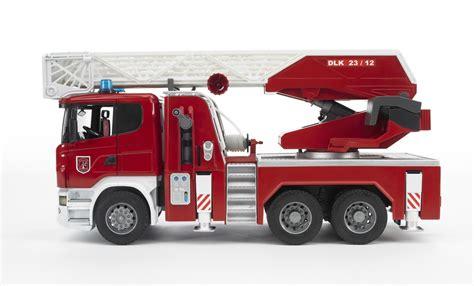 bruder fire truck camion nacelle pompier scania de bruder