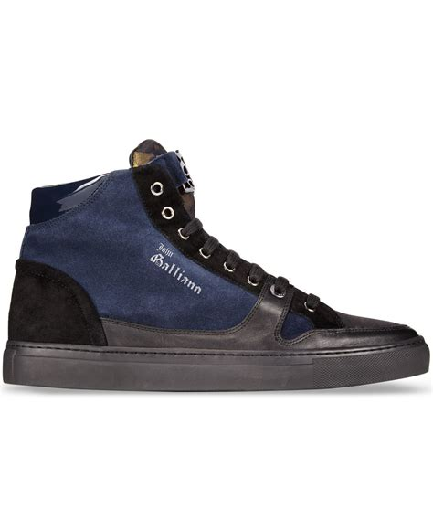 galliano sneakers lyst galliano high top sneakers in blue for