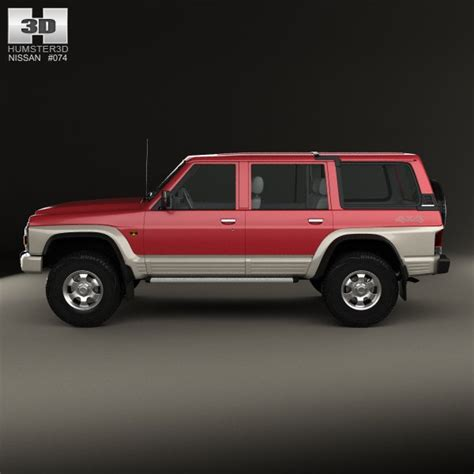 nissan patrol y60 5 door 1987 3d model cgstudio