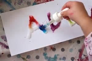 salt glue and watercolour experiment happy hooligans