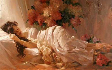 girl lying bed with flowers 1920x1200 woman bed sleeping flowers desktop pc and mac