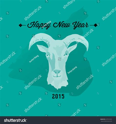 new year 2015 goat quotes 2015 new year card goat vector stock vector 227013181