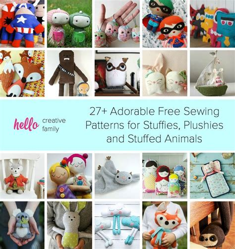 Handmade Stuffed Animal Sewing Patterns - 503 best images about dollmaking on