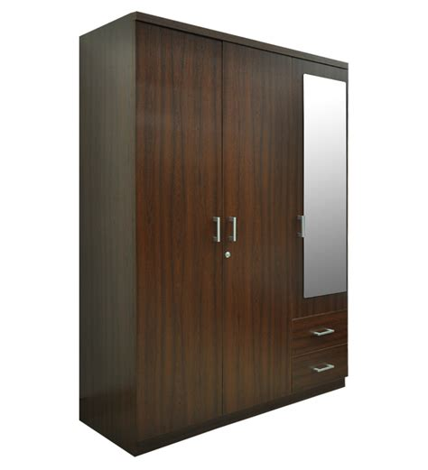 3 Door Armoire Wardrobe 3 Door Value Wardrobe With Mirror By Spacewood By