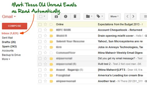 How To Search For Unread Emails In Gmail Automatically Unread Emails In Your Gmail As Read