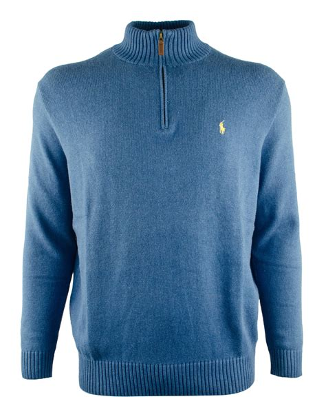 polo ralph s big half zip mock neck