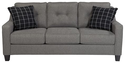 Pay Weekly Sofas No Credit Checks by Benchcraft Brindon Contemporary Sofa With Track Arms