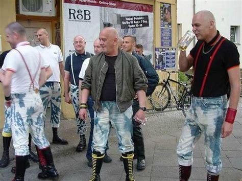 berlin scheune outside scheune during skinhead event