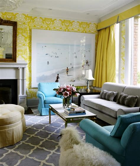 Yellow Blue And Green Living Room Aqua Sofa On Aqua Sofas And Chesterfield Sofa