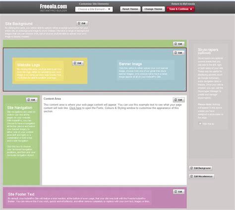 web layout view definition use website design editor in the instantpro website builder