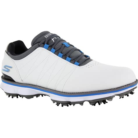 golf shoes skechers gogolf pro white gray blue 10 medium golf shoes