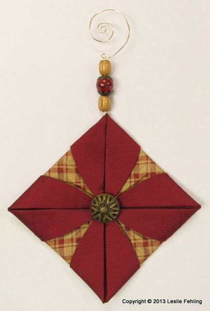 Fabric Origami Ornaments - everyday artist fabric origami the prettiest ornaments