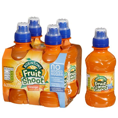 Galaxy Lighting Robinsons Fruit Shoot Orange 4 X 200ml Soft Drinks