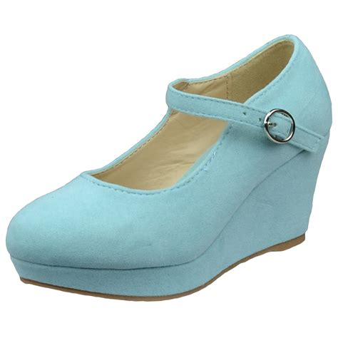 dress shoes ankle closed toe wedge platform