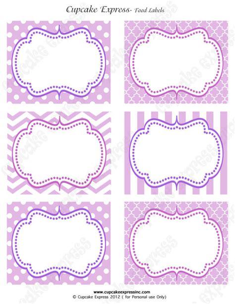 printable lavender labels purple princess birthday party sofia the first printable