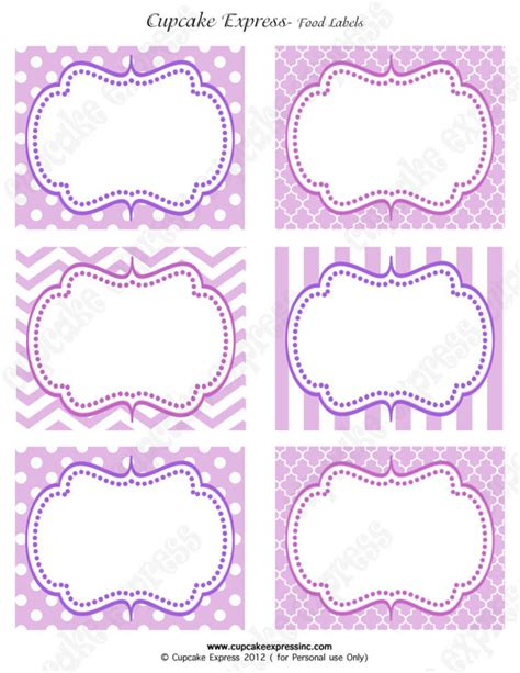 Items similar to Purple Princess Birthday Party sofia the first PRINTABLE Food Labels crown