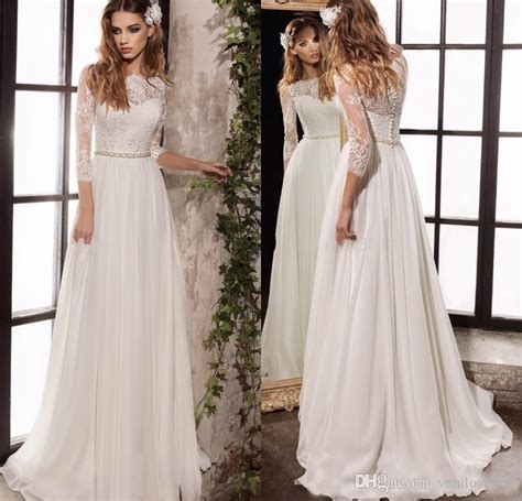 discount long sleeve lace wedding dresses   simple