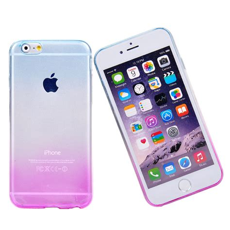 Silicon Melody Iphone 6 S Iphone 6 S Note 4 phone cover for iphone 6 6s transparent gradient color design silicone tpu cover coque capa