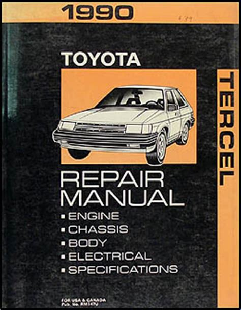service and repair manuals 1993 toyota tercel electronic toll collection 1990 toyota tercel repair shop manual original