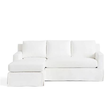 york square arm slipcovered sofa with chaise sectional