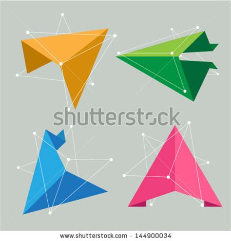 Origami Creative Concepts - delta symbol stock photos images pictures