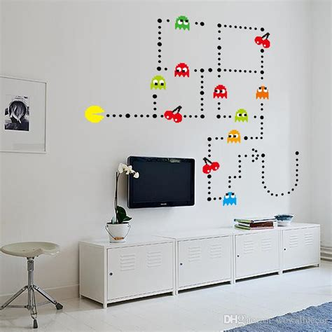 wall decal pacman wall decals gamer s room ideas pac
