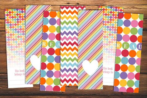 printable rainbow bookmarks free printable bookmarks rainbow books pinterest