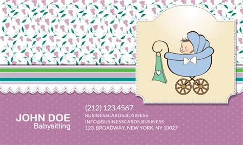 babysitting cards free templates free babysitting business card template for photoshop