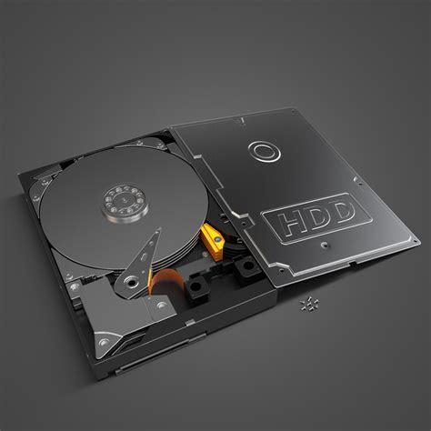 Hardisk 3d Disk Drive Hdd 3d Model