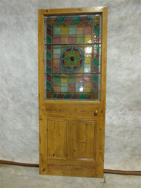 Antique Stained Glass Door Antiques Atlas Pine Stained Glass Door