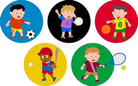 bambini clipart bambini olimpici illustrazione vettoriale illustrazione